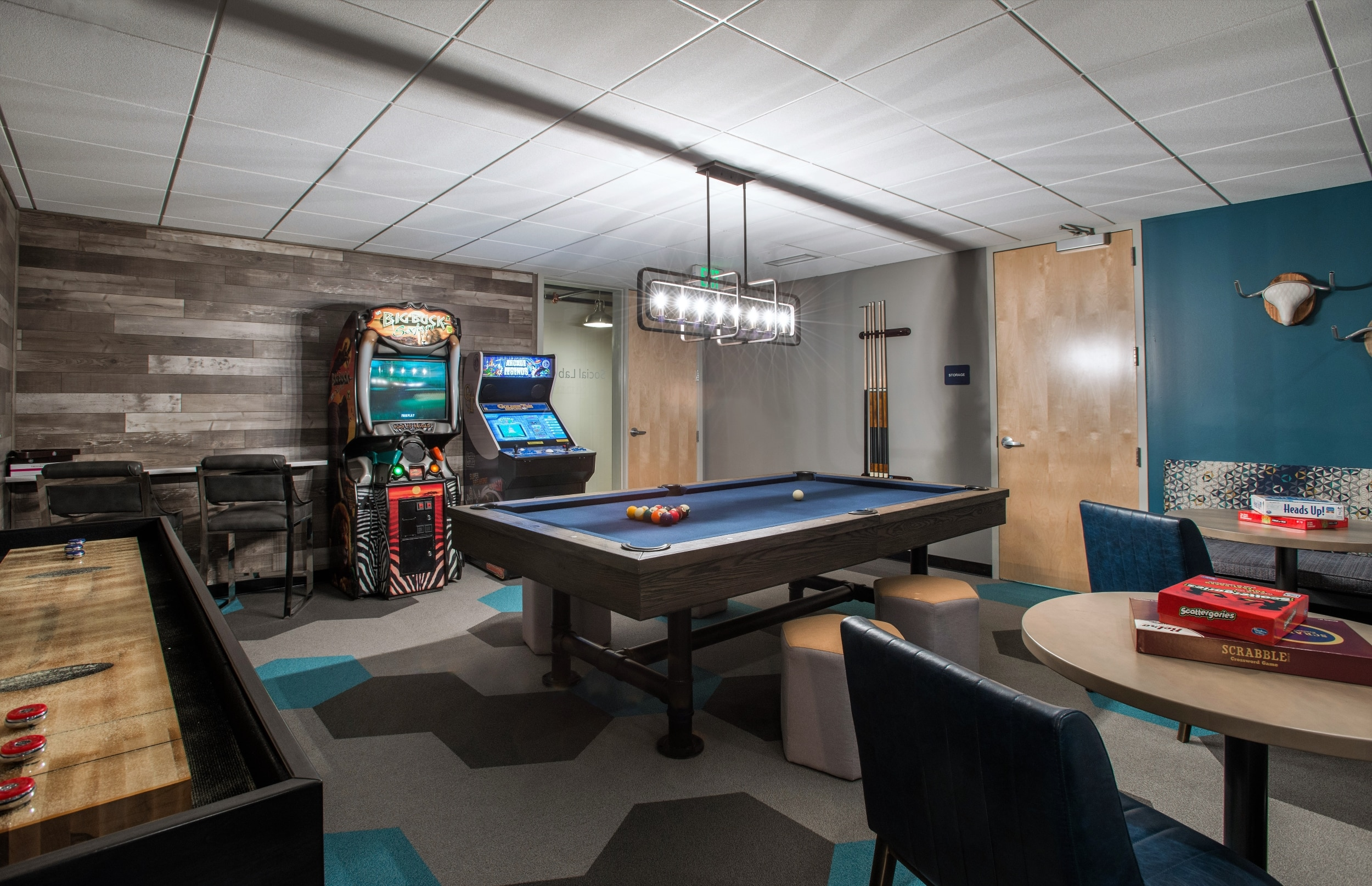 Game Room with Billiards, Shuffleboard, Arcades & More!