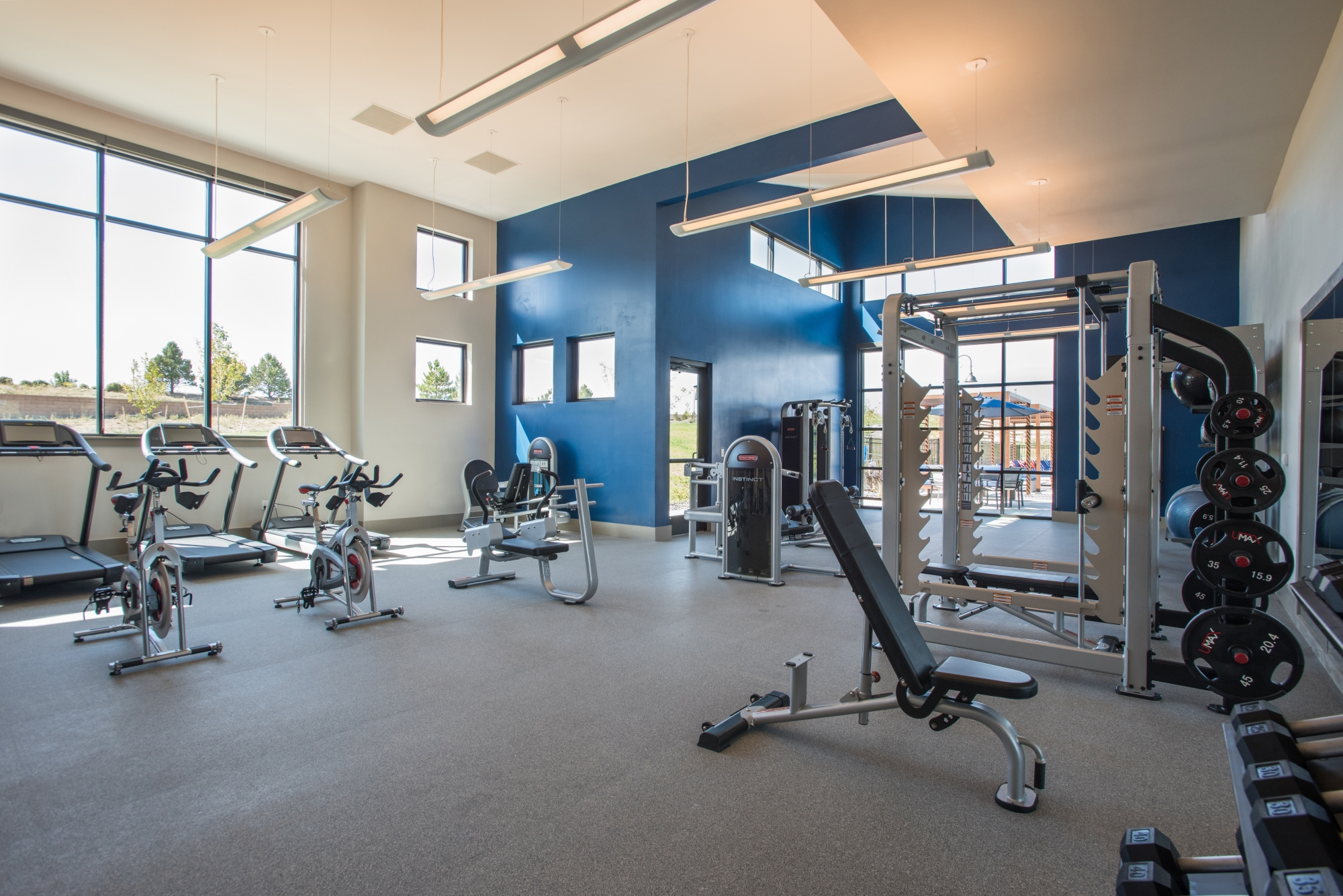Huge Fitness Center with Club-Style Equipment