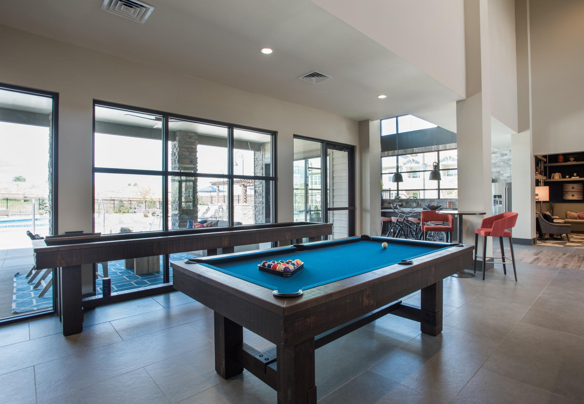 Community Pool Table, Shuffleboard, and Lounge