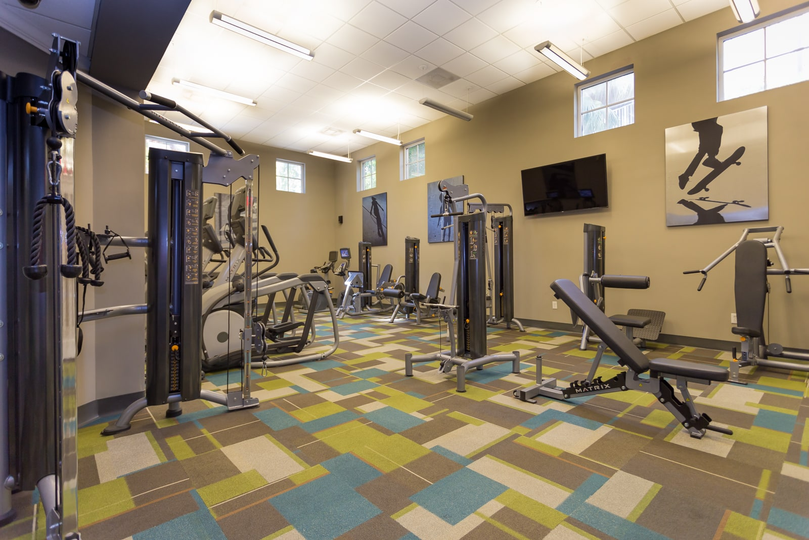 Fully Equipped Fitness Center with State-of-the-Art Equipment
