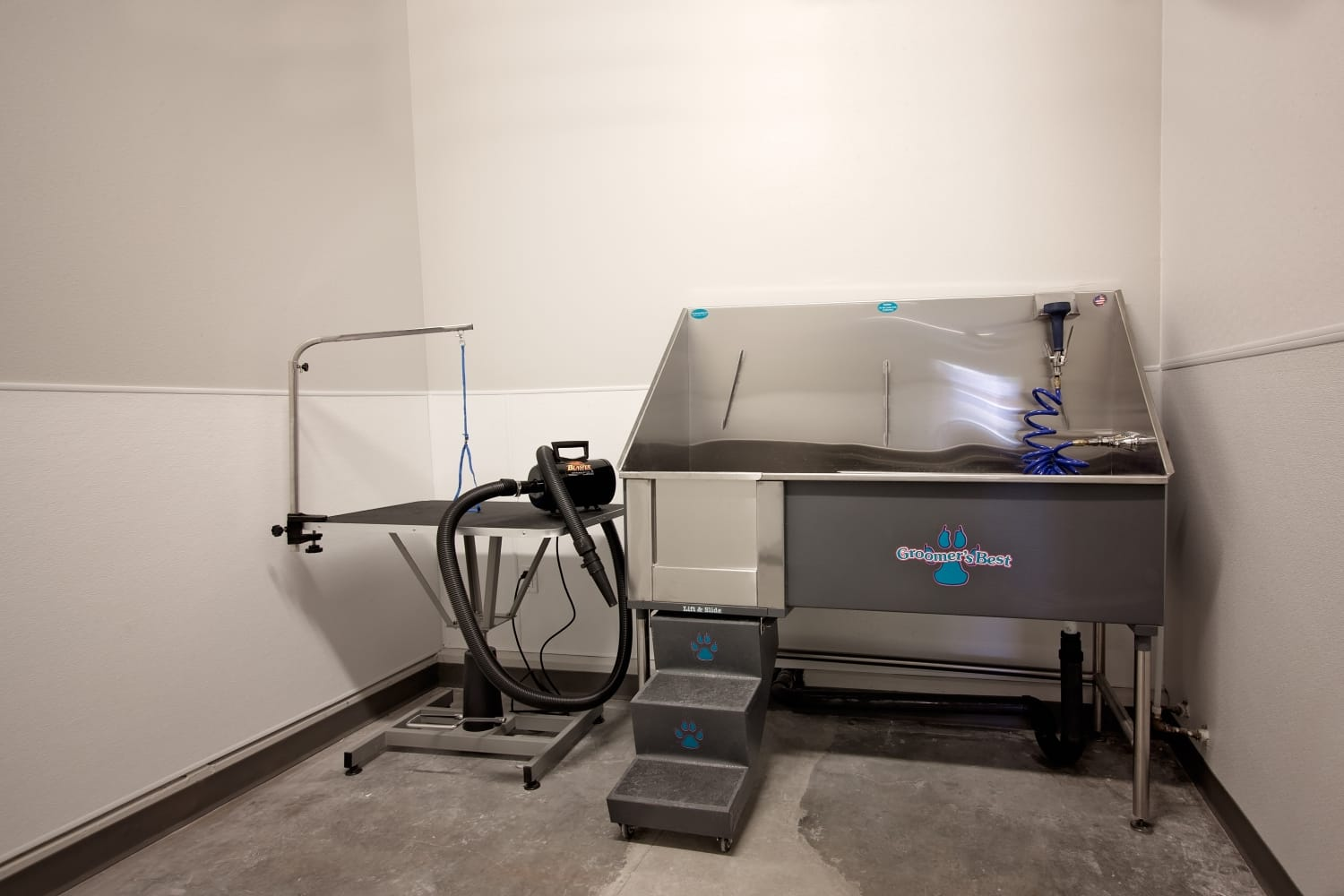 Pet washing and grooming station