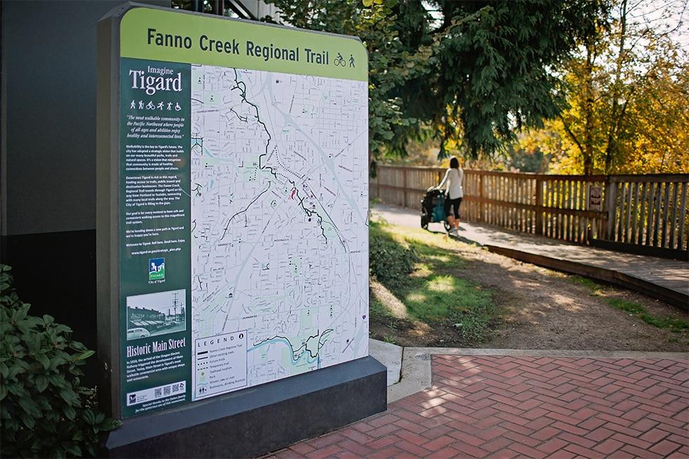 Next to Fanno Creek Trail