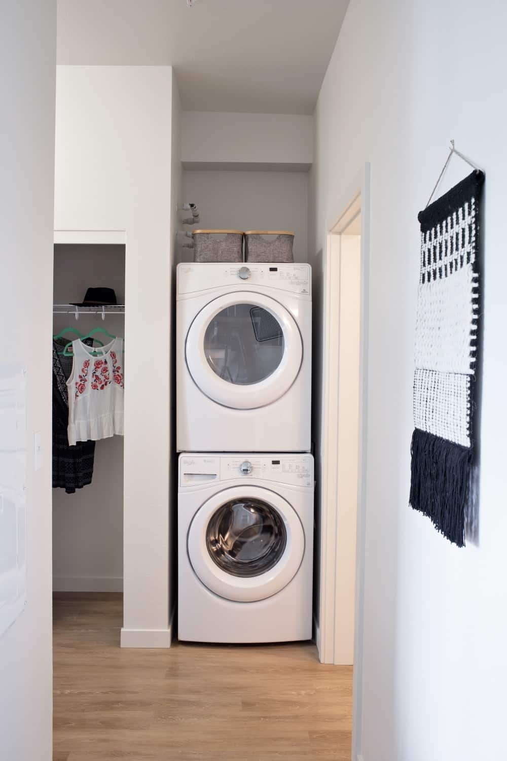 Front-load Full-size washer & dryer