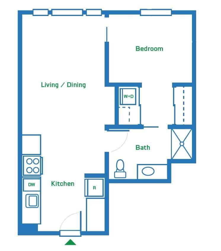 1 Bedroom | 610