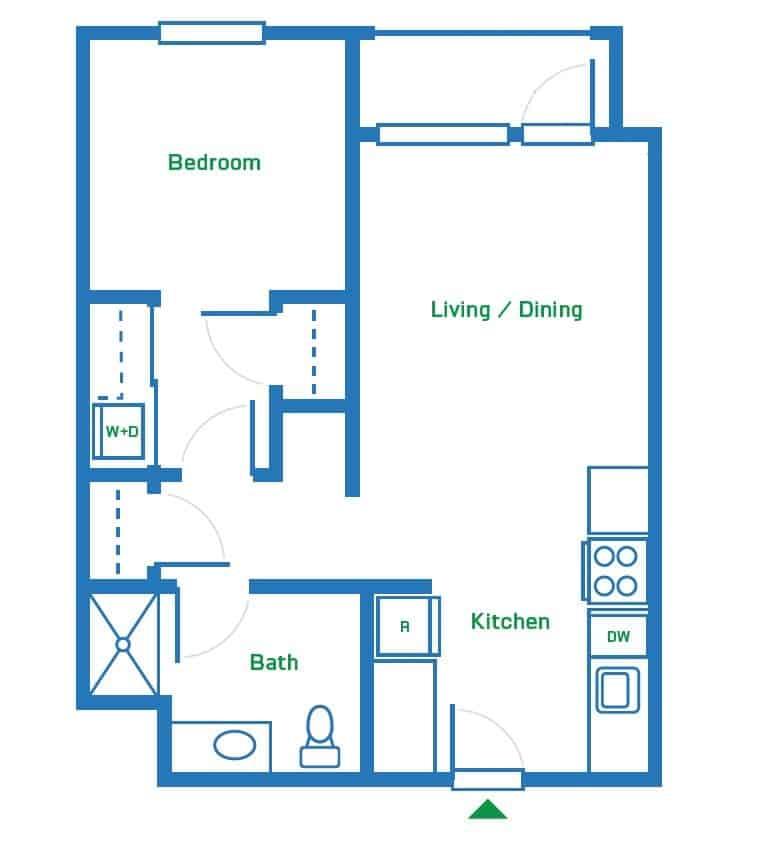1 Bedroom | 645