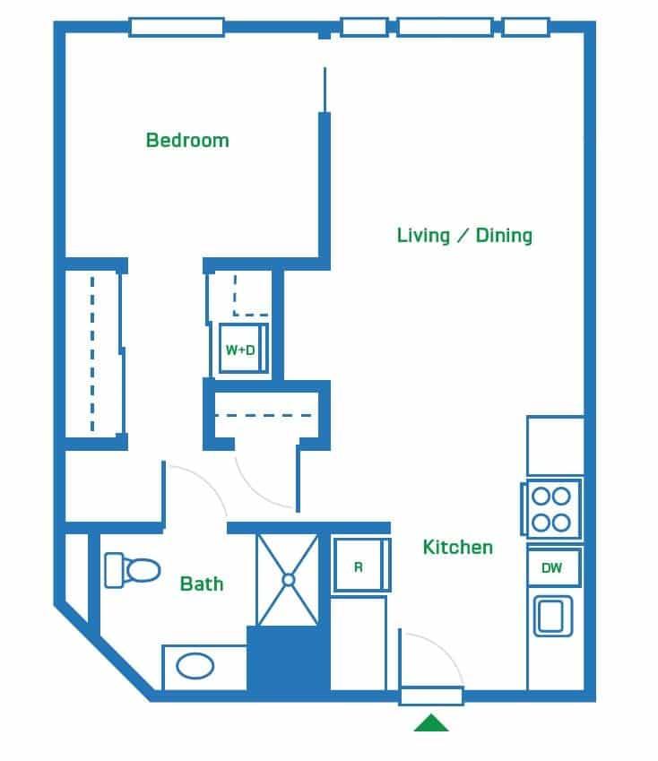 1 Bedroom | 669