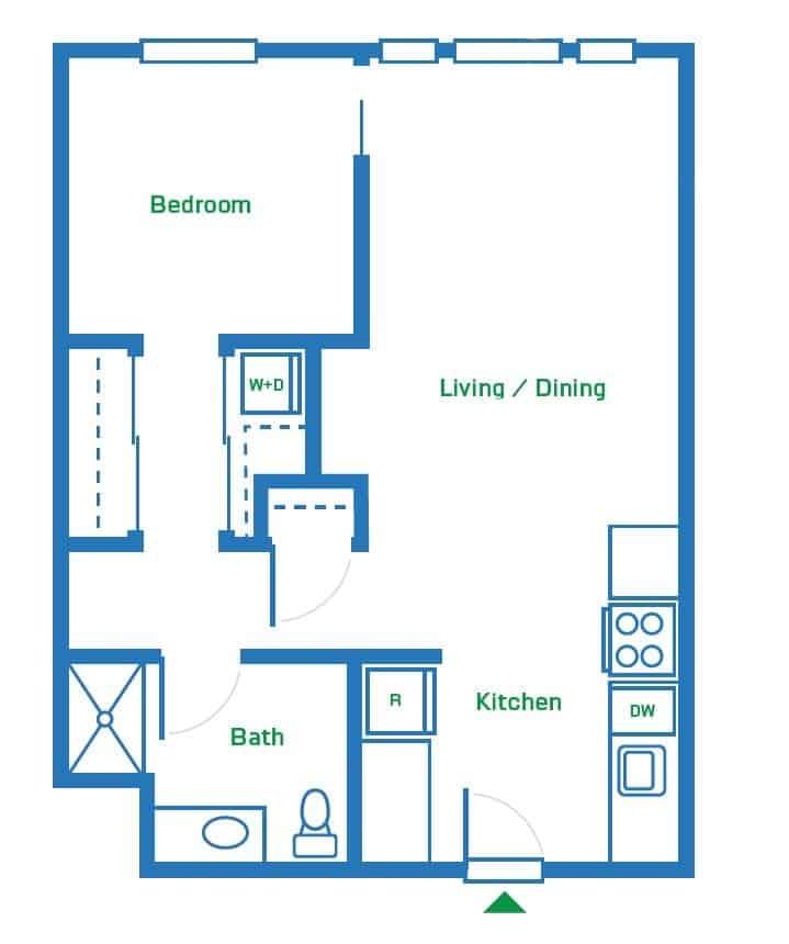 1 Bedroom | 680