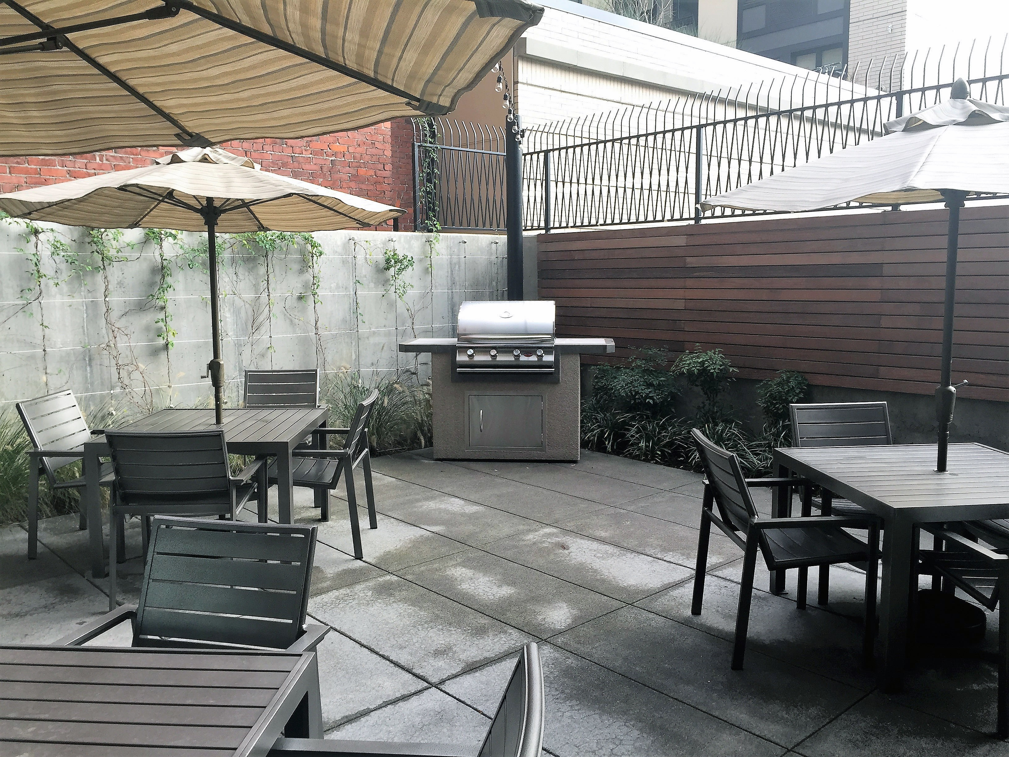 Community Outdoor Terrace with BBQ Grill Station