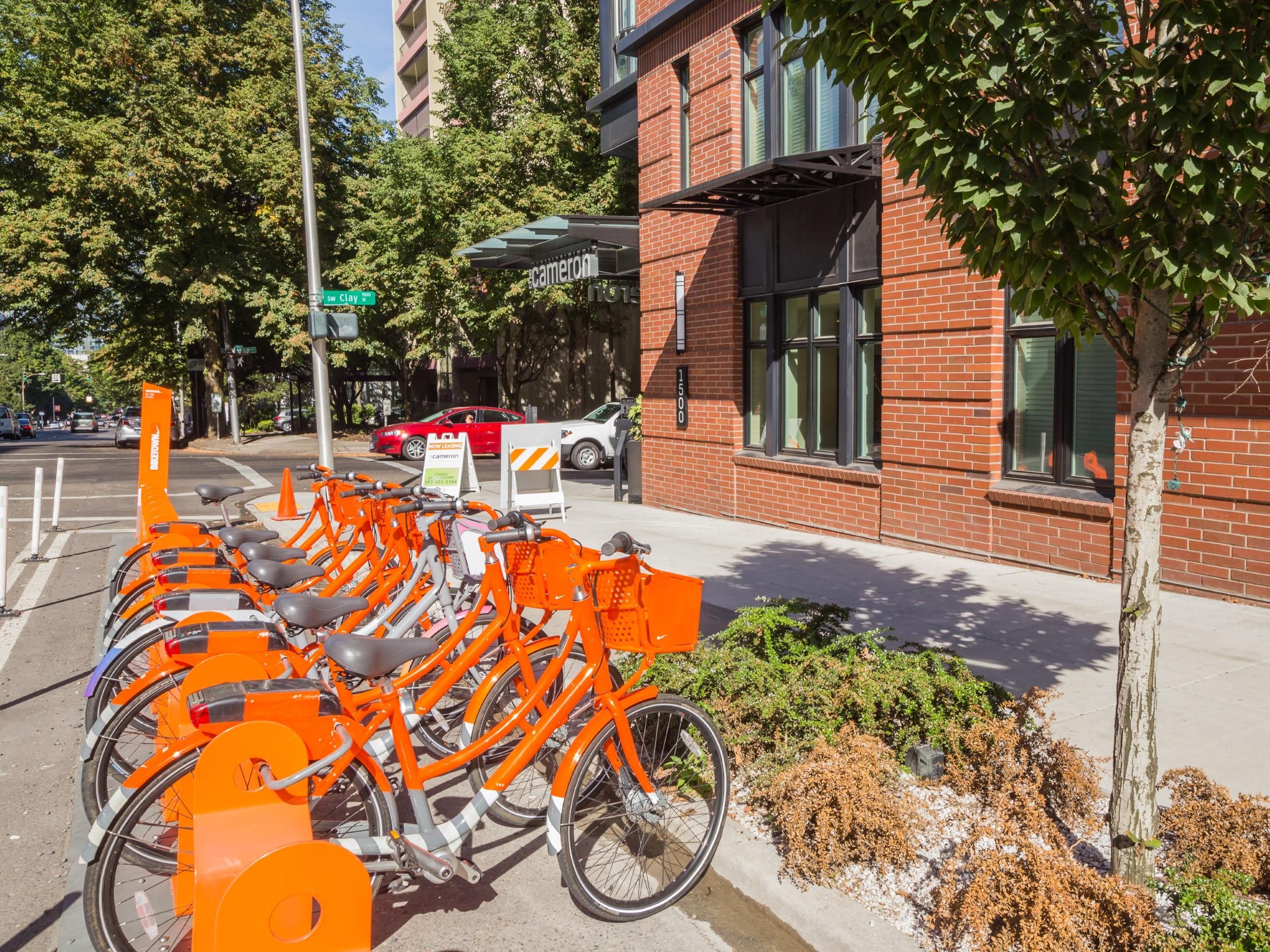 Biketown Bicycles Outside Front Door!