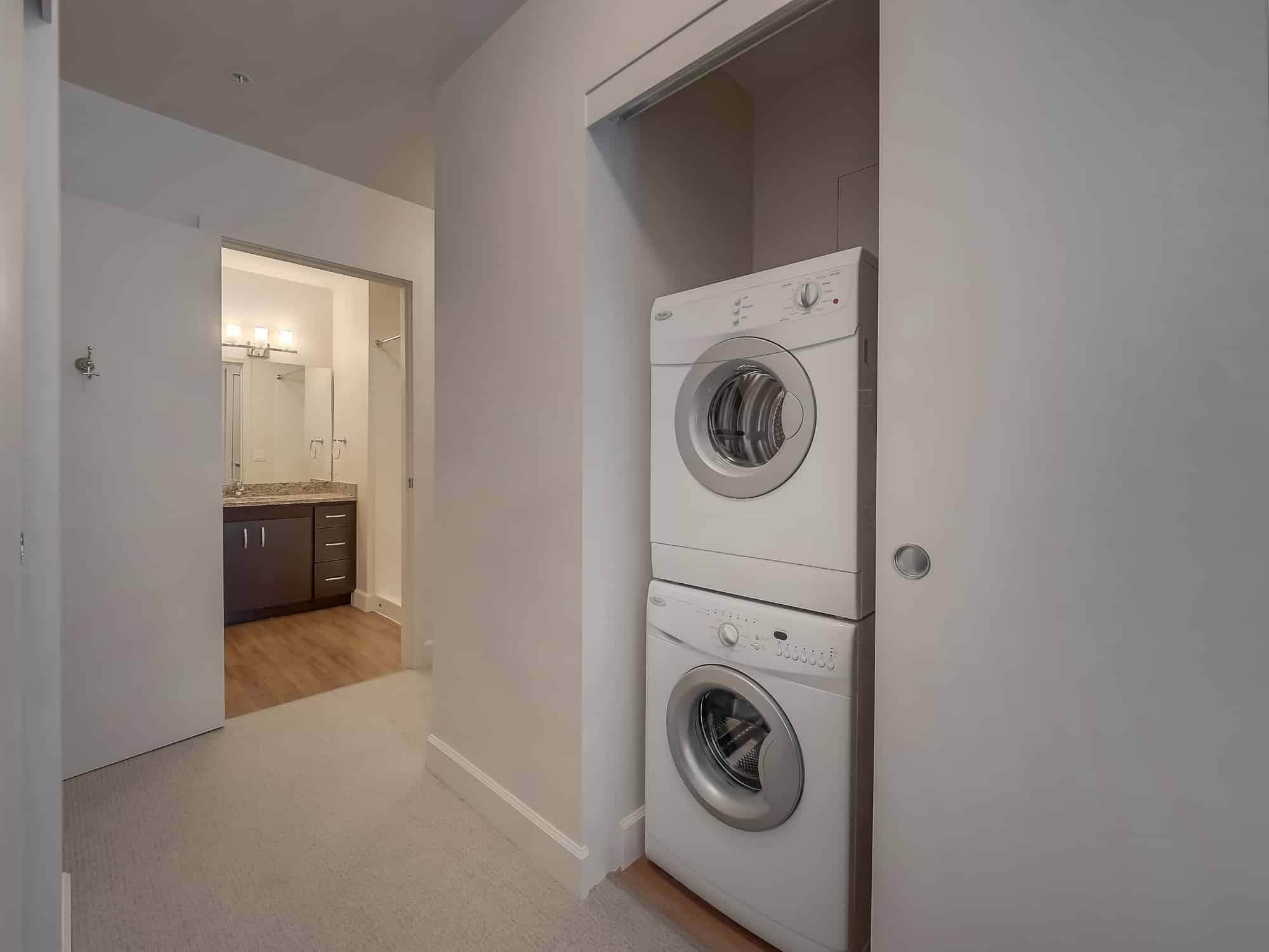 HE Front-load Washer and Dryer in Every Apt.