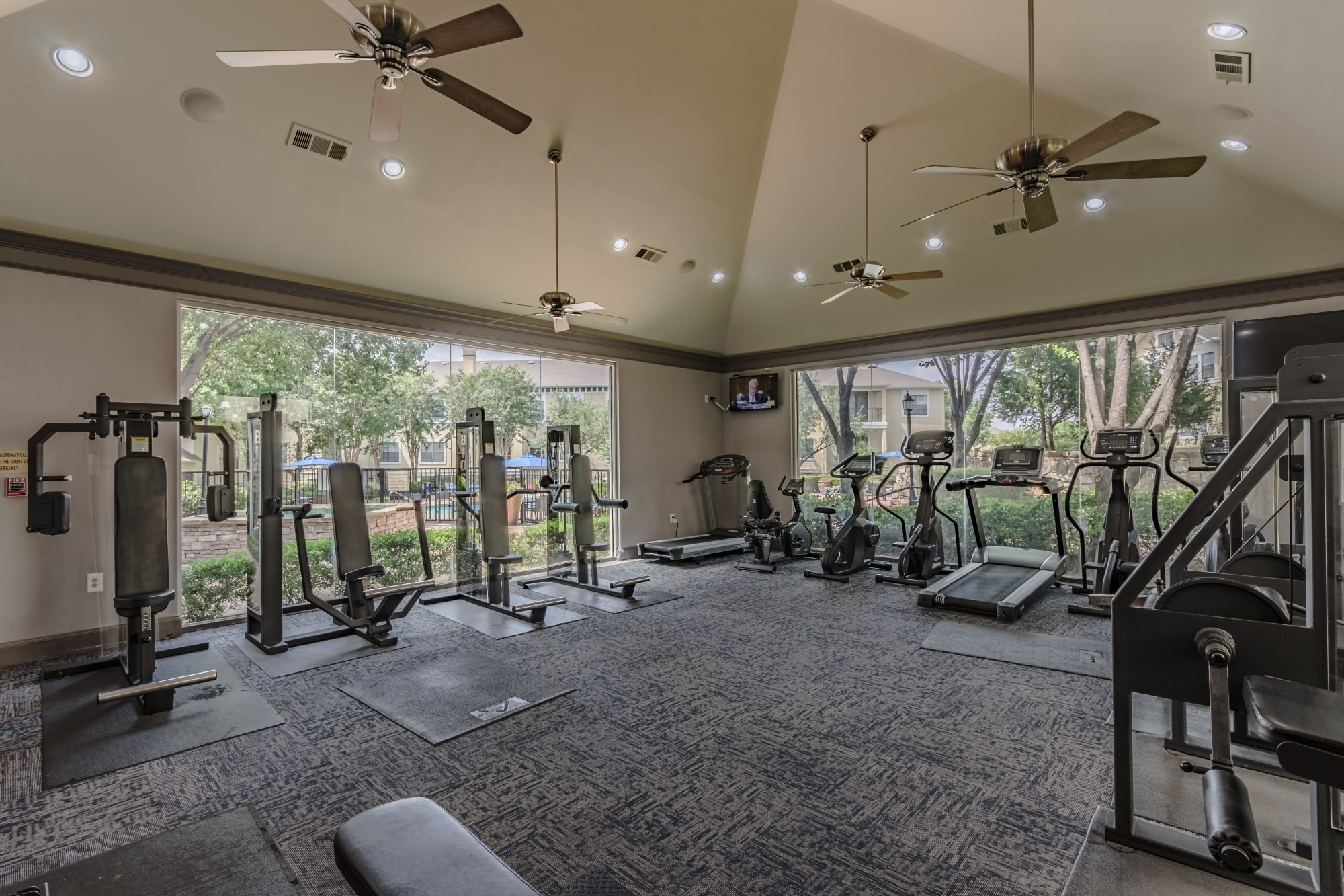 Fitness Center with Club-Style Equipment