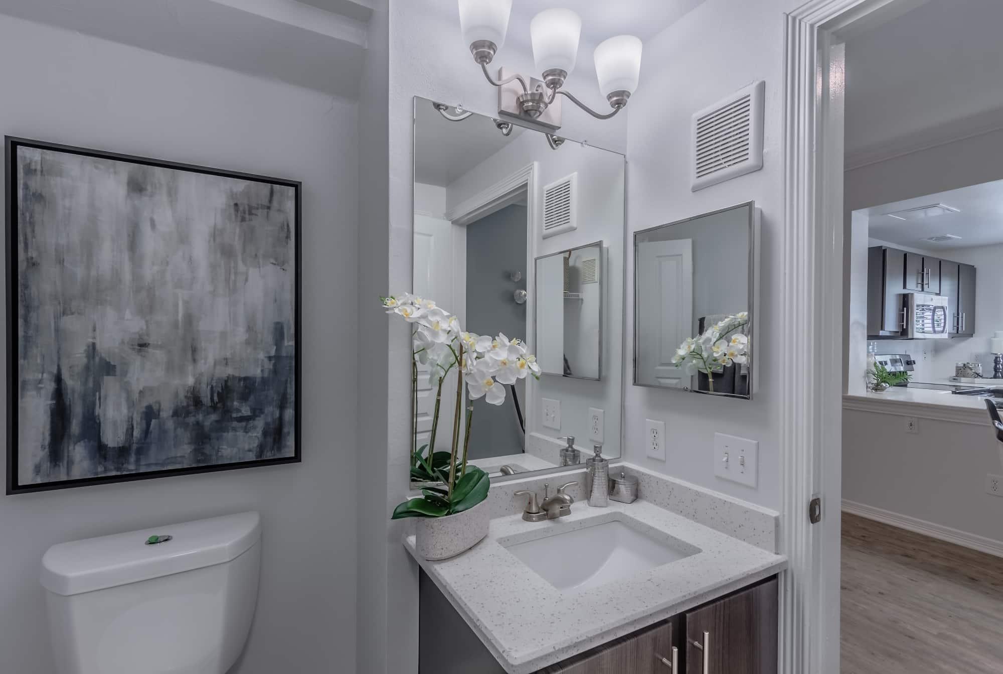 Designer Brushed Nickel Lighting and Bathroom Fixtures