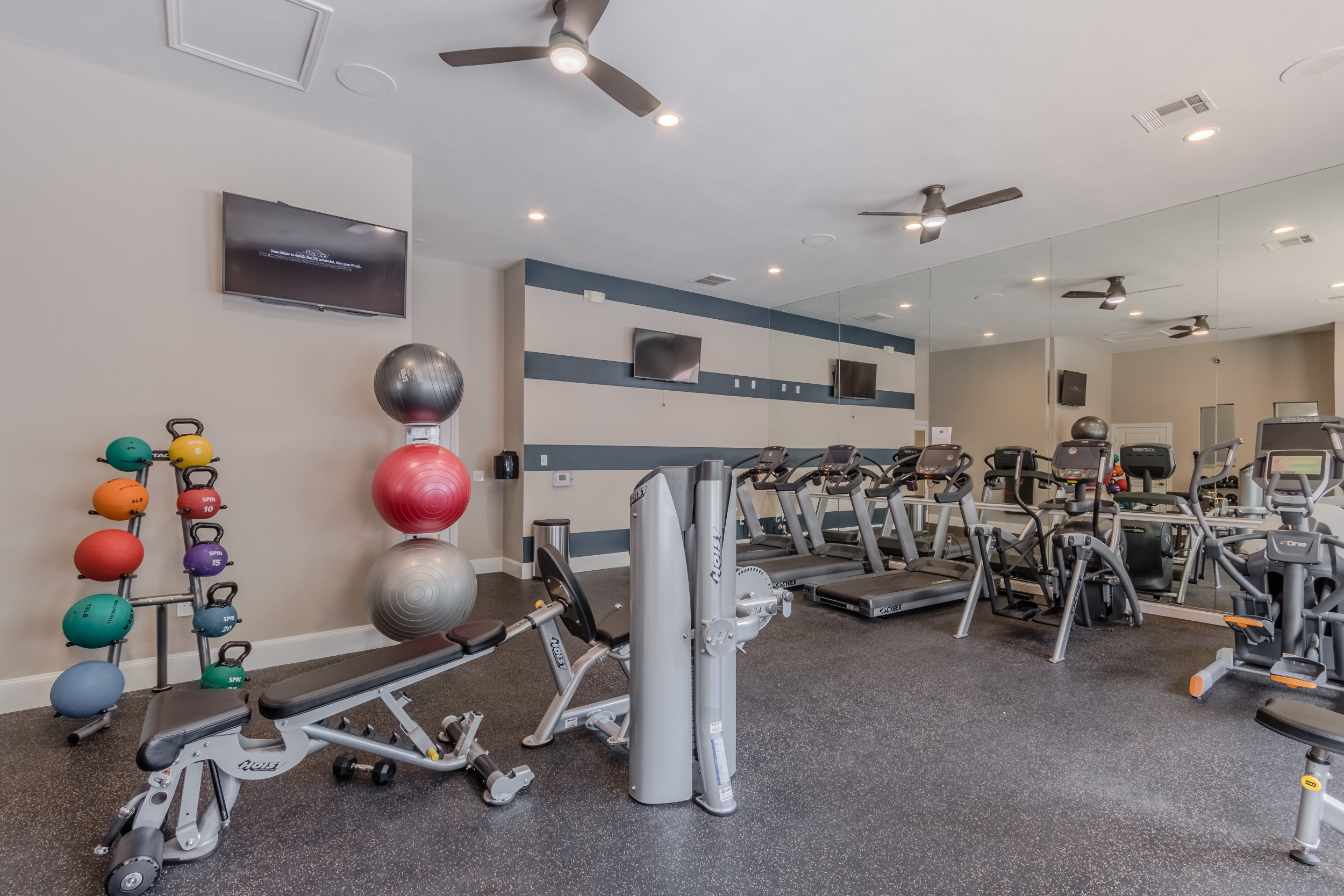 Upgraded Fitness Center with Club-Quality Fitness Equipment